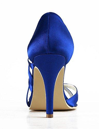 4in De Fiesta 3 Y 3 3 Punta blue Boda Blanco Azul Rojo Amarillo Morado negro Vestido Zapatos Zq Abierta tacones tacones Rosa Noche 4in boda 3in purple Az5Bvqw