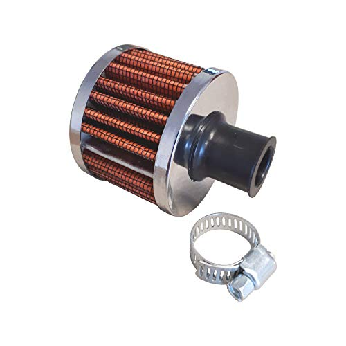 Air Filter Mini Red 50 mm Sports Air Filter 12 mm Connection Housing Gearbox Air Filter: