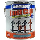 Hammerite Rust Cap Rust Preventative Paint Hammered Light Blue 1 Gl
