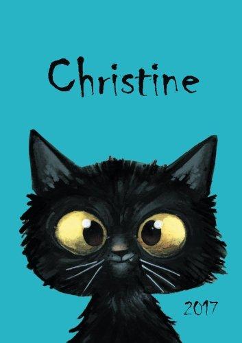 Read Online 2017: Christine - Katzenkalender 2017 - DIN A5 - freche Katze - 1 Woche pro Doppelseite (German Edition) PDF