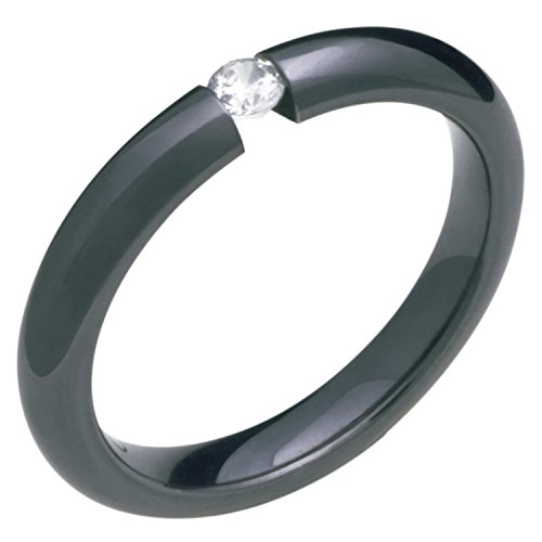 (Alain Raphael Stunning Black Titanium Ring With Diamond Tension Set 3mm wide Wedding Band)