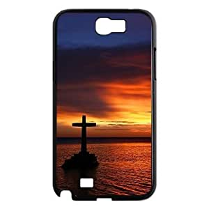 LZHCASE Diy Design Back Case Cross for Samsung Galaxy Note 2 N7100 [Pattern-1]
