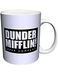 Dunder Mifflin (The Office) World's Best Boss TV Television Show Ceramic Gift Coffee (Tea, Cocoa) 11 OZ Mug, By CulturenikOfficially Licensed from NBC/Universal TV.