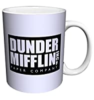 Dunder Mifflin (The Office) World's Best Boss TV Television Show Ceramic Gift Coffee (Tea, Cocoa) 11 OZ Mug, By CulturenikOfficially Licensed from