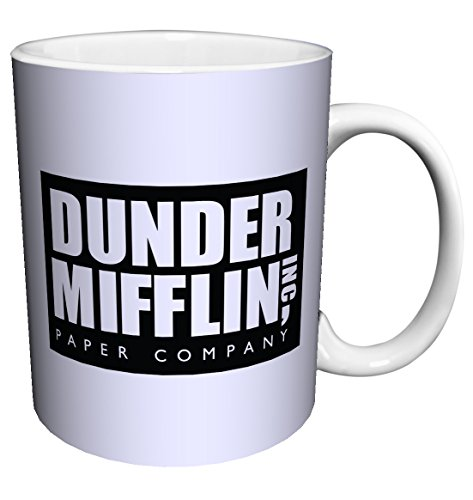 Dunder Mifflin (The Office) World's Best Boss TV Television Show Ceramic Gift Coffee (Tea, Cocoa) Mug, 11 Ounce