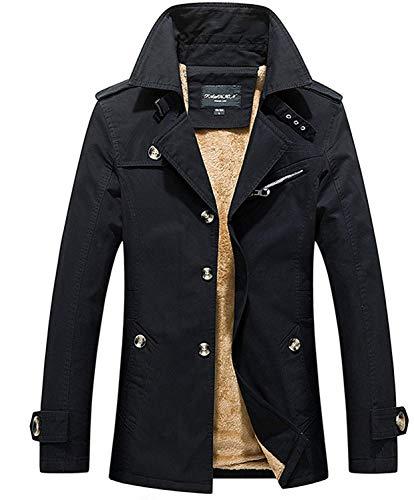 Monopetto Comode Cappotto Hx Coat Schwarz Taglie Lunga Manica Capispalla Uomo Fashion Giacca Abiti Soprabito Lungo Invernale Caldo Da Trench zwwRZ