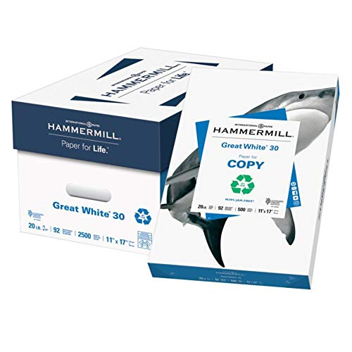Hammermill Great White Copy Paper, Ledger Paper, 20 Lb, 30% Recycled, 500 Sheets Per Ream, Case of 5 Reams by Hammermill (Image #4)