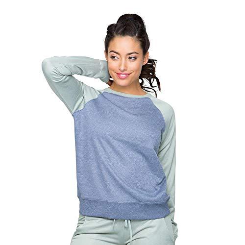 Colosseum Womens Layla Pullover Sweatshirt Vintage Indigo - S ()