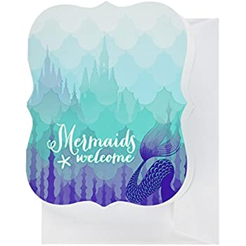 mermaids under the sea party supplies invitations 8 - Under The Sea Party Invitations