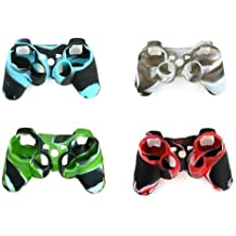 YTTL® 4 Pack of High Quality Premium Super Grip Silicon Protective Skin Case Cover for Sony Playstation 3 PS3 Remote Controller