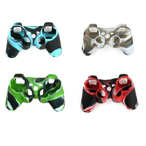 YTTL 4 Pack of High Quality Premium Super Grip Silicon Protective Skin Case Cover for Sony Playstation 3 PS3 Remote Controller