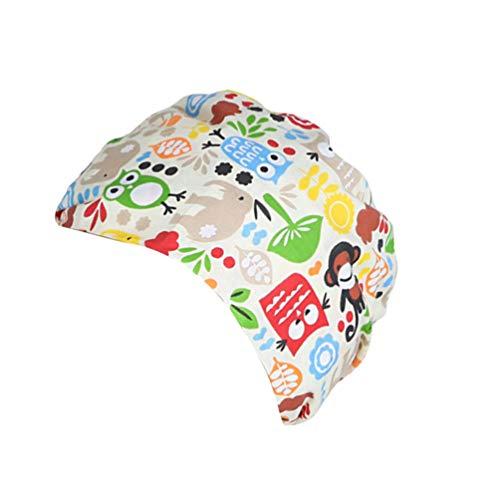 TENDYCOCO 1 Unid Algodón Mono Búho Correa Impresa Sombrero de Trabajo Quirófano Gorro Médico Gorro de Enfermera Sombrero para Médico Y Enfermera 3