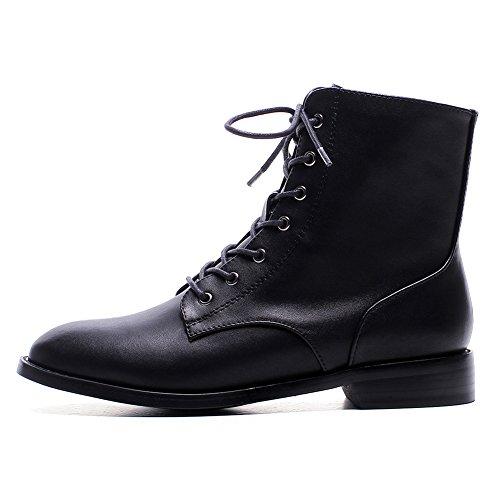 Antideslizante WSXY Mujer Confort Q2812 Black Innovador Otoño Botas Invierno hasta Moda KJJDE Cuadrado Botas 35 Tacón Mujer XznqR7f