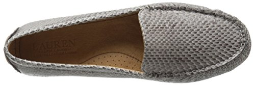 Lauren Di Ralph Lauren Womens Carys Slip-on Mocassino Bicolore In Pelle Di Serpente