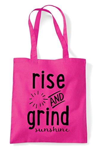 Bag And Rise Grind Fuschia Tote Sunshine Shopper qTfHIw1z