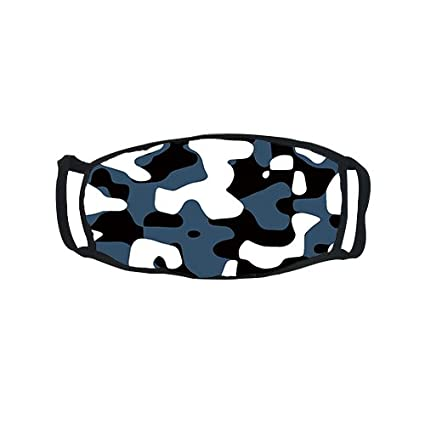 Amazon.com: jesspad Rostro Boca Máscara cool blue camuflaje ...