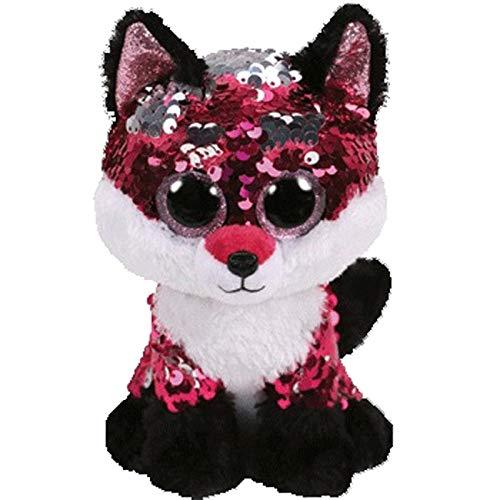 - Laura baby toys Flippables Animal Plush Toys Doll Malibu The Cat Moonlight The Owl Jewel The Fox Best Christmas 15cm Fox