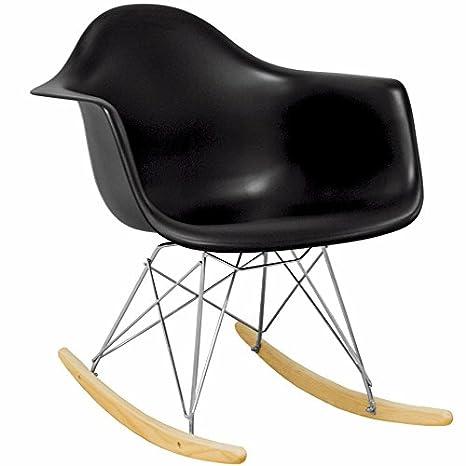 Strange Mod Made Mid Century Modern Paris Tower Rocker Rocking Chair Black Inzonedesignstudio Interior Chair Design Inzonedesignstudiocom