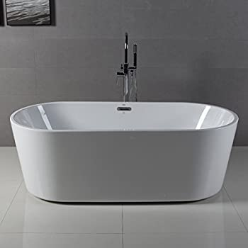 Kohler K 1800 Hw1 Abrazo Freestanding Bath Honed White