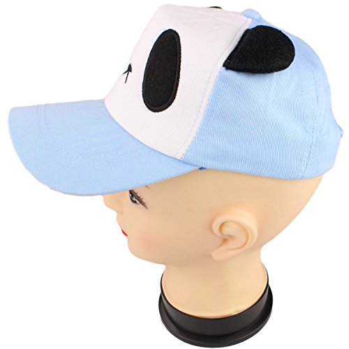 Panda Bear Face with Ears Baseball Cap Cute Character Hat by bogo Brands (Blue)
