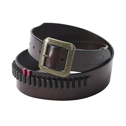 Tourbon Adjustable Leather Pistol Bandolier Cartridge Belt for .22