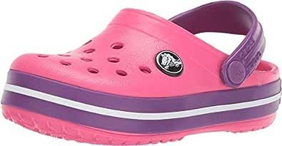 Crocs Unisex Kids Crocband Clog, Paradise Pink/Amethyst, J1