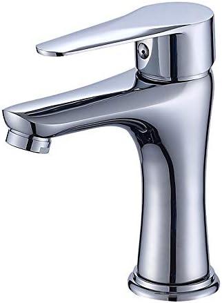 洗面蛇口 バスルーム洗面銅ホットとコールドミキシング蛇口バスルームの洗面台洗面台の蛇口クラシック バスルーム、キッチンなどに適しています (Color : Silver, Size : AS PICTURE)