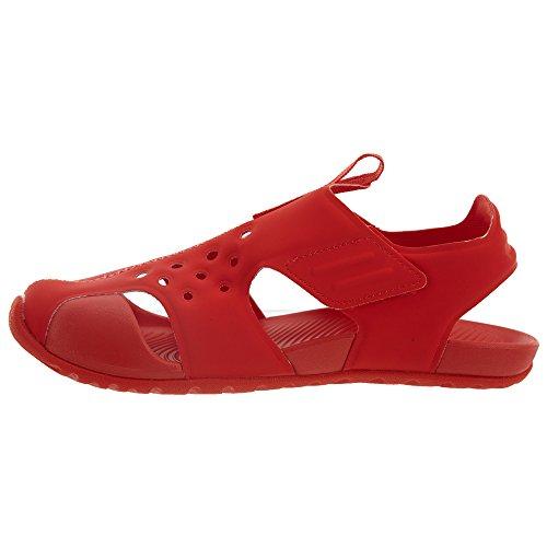 Nike Boys Sunray Protect Sandali Rossi Habanero Rosso / Nero-habanero Rosso
