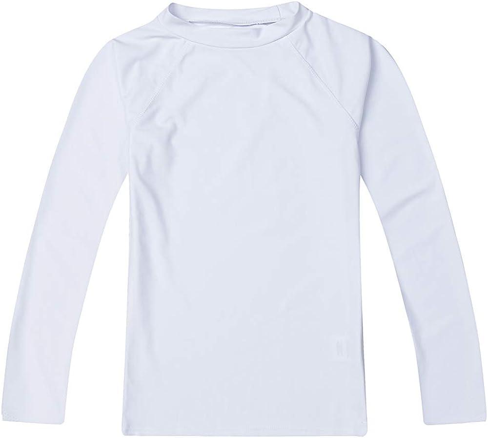 ESTAMICO Boys' UPF 50+ Long-Sleeve Rashguard Athletic Swim Shirt