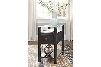 Signature Design by Ashley T217-771 Diamenton Chairside End Table Almost Black