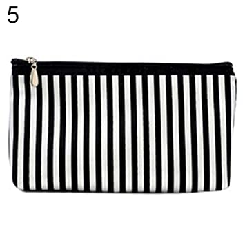 66751f6cc035 Amazon.com : gainvictorlf Makeup Bag Travel Toiletry Pouch Striped ...