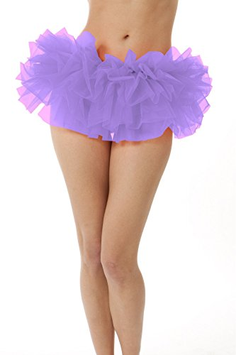 BellaSous Adult Poofy Tutu for Holiday Costume, Princess Tutu, Ballet Tutu, Dance Outfit, or Fun Run Lilac (Lilac Tutu)