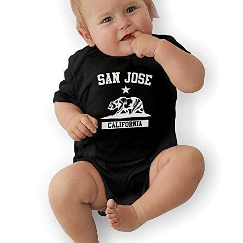 FAMURR Girls'&Boys' Kid San Jose California Cotton Crew Neck Short Sleeve T Shirts Top Black]()