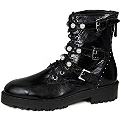 Zara Women Leather ankle boots with faux pearls 6133/201 (41 EU | 10 US | 8 UK)