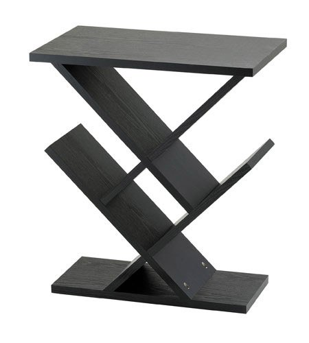 Adesso WK4614-01 Zig-Zag Accent Table, Black (Accent Adesso Table)