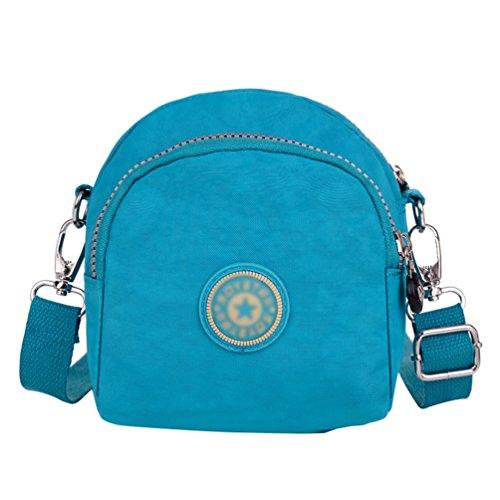 Ajustable Correa de Mujer Cielo Yujeet Viajes Impresión Casual Bolsa Mensajero Azul Hombro Muchos Bolsillos Bolsa de 1qzxB4v