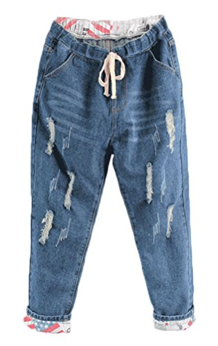Drawstring Cropped Jeans - 5