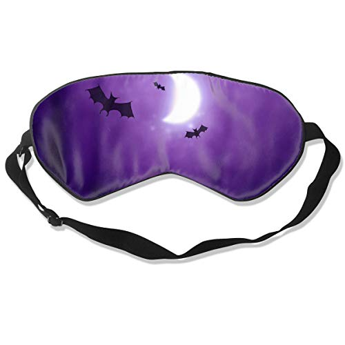Bruce Springsteen Halloween Mask (Sleep Mask 100% Silk Eye Mask Happy Halloween Bats Pattern Eye Cover Sleeping Mask for Travelling, Night Noon Nap, Mediation Or)