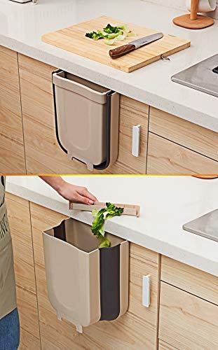 41sMokDfmaL TTMOW Mülleimer Küche Faltbare, Neue Generation 9L Abfalleimer Küche Für Schranktür