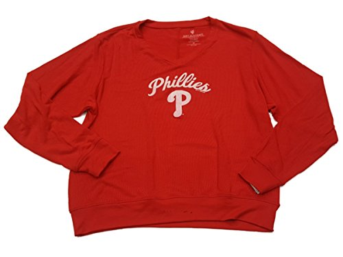 Philadelphia Phillies SAAG WOMENS Red Ultra Soft Defect V-Neck Sweater – Sports Center Store