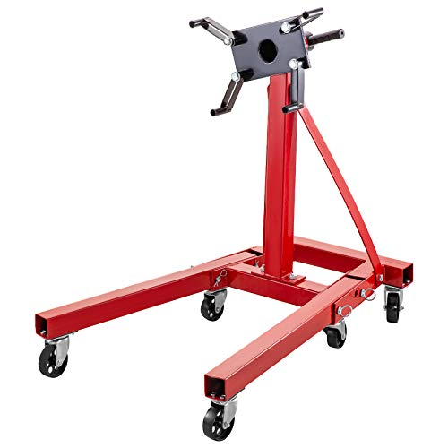 New BestEquip Engine Stand 2000LBS Capacity Motor Stand Engine Hoist Rotating Automotive Tools in Heavy Duty Steel with 6 Iron Caster Wheels Maintenance Equipment for Auto Car Truck Jack
