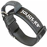 Julius-K9 Collare nero con manico - Collare per cane, con manico e chiusura di sicurezza in velcro