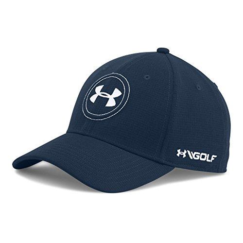 Under Armour Men's Jordan Spieth UA Tour Cap, Academy (408)/White, - Hat Tour Cap