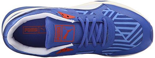 Puma 698 Ignite rayas Sportstyle la zapatilla de deporte Dazzling Bl-Wht-Wht