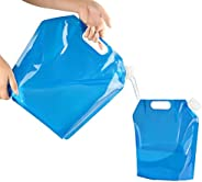 Amison Collapsible Water Container 5L + 10L Portable Foldable Water Tank BPA Free Plastic Water Carrier for Hi