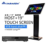 InAndon karaoke player KV-800SH Plus With HD In. Chinese Cantonese English Songs,With Wifi Receiver Build-in. (KV-800SH Plus+8TB HD+19 inch Touch Screen)