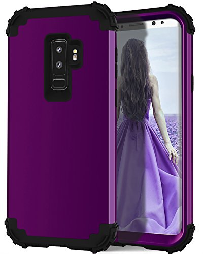 Lontect Galaxy S9 Plus Heavy Duty Three Layer Hybrid Sturdy Armor Defender High Impact Resistant Protective Cover Case for Samsung Galaxy S9 Plus