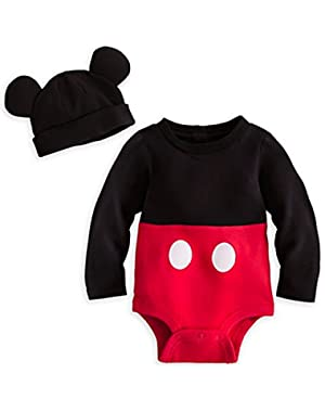 Disney Store Mickey Mouse Costume Onesie Bodysuit Size 12 - 18 Months