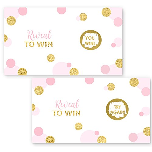 Pink and Gold Scratch Off Game Card Set (28 pc.) ()