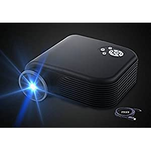 2018 Projector(Warranty Included),XINDA Huge Screen Video Projectors Support 1080P with HDMI Cable,High Bright Home Projector Support Smartphones Blu-ray DVD Player,Laptops and Tablets(Black)